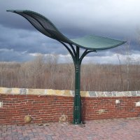 galvanized and Painted steel shade structures at the Monarch Levy Trail in Chesterfield with stainless steel fasteners 2